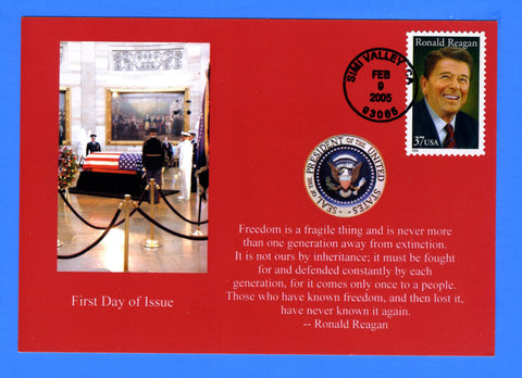 Scott 3897 37c Ronald Reagan First Day co Issue Card by Great Southern Cover Co