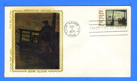 Scott 1433 John Sloan, American Artist First Day Cover Very Early Colorano