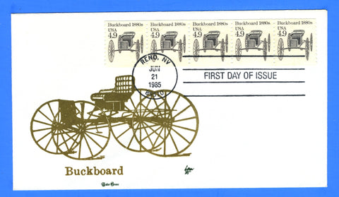 Scott 2124 4.9c Buckboard First Day Cover by Tudor House