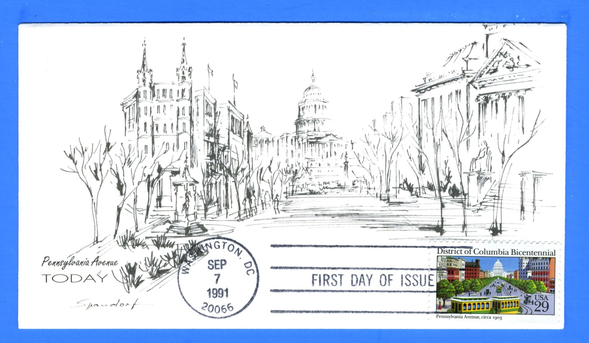 Scott 2567 District of Columbia Bicentennial First Day Cover by Spandorf