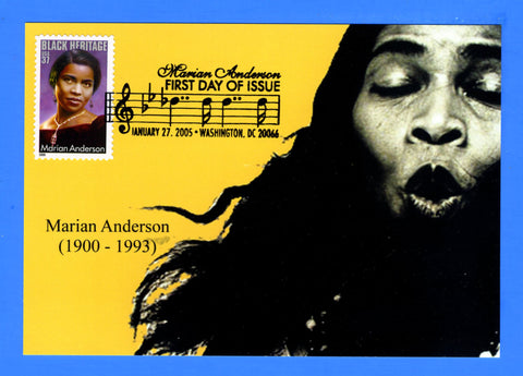 Scott 3896 37c Marian Anderson First Day of Issue Card by Great Southern Cover Co