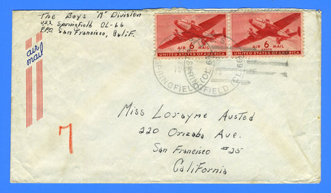 USS Springfield CL-66 Sailor's Mail April 22, 1945