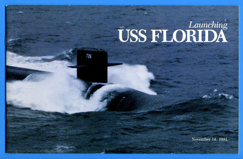 USS Florida SSBN-726 Launching Program November 14, 1981
