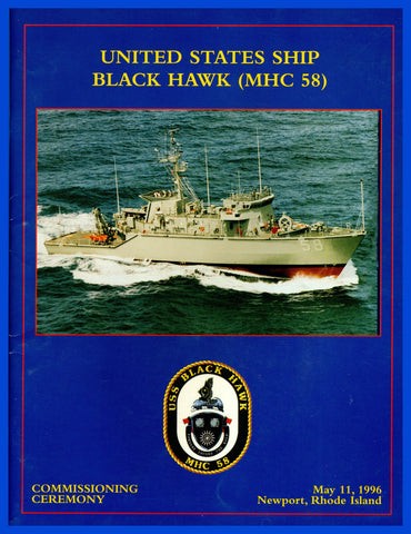 USS Black Hawk MHC-58 Commissioning Program May 1, 1996