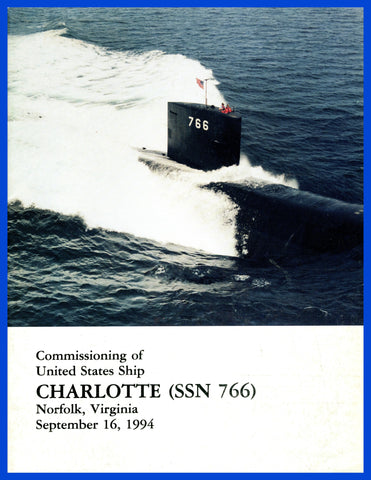 USS Charlotte SSN-766 Commissioning Program September 16, 1994