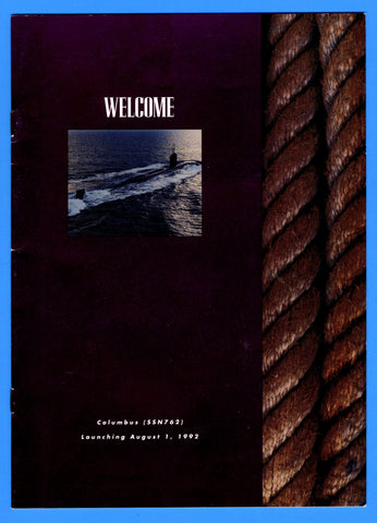 USS Columbus SSN-762 Launching Program August 1, 1992