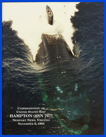 USS Hampton SSN-767 Commissioning Program November 6, 1993