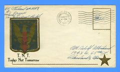 "Soldier's ""Free"" Mail on Runge Patriotic Cover February 22, 1945"