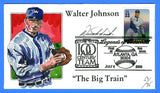 Scott 3408i Walter Johnson Legends of Baseball Hand Painted FDC by Wild Horse