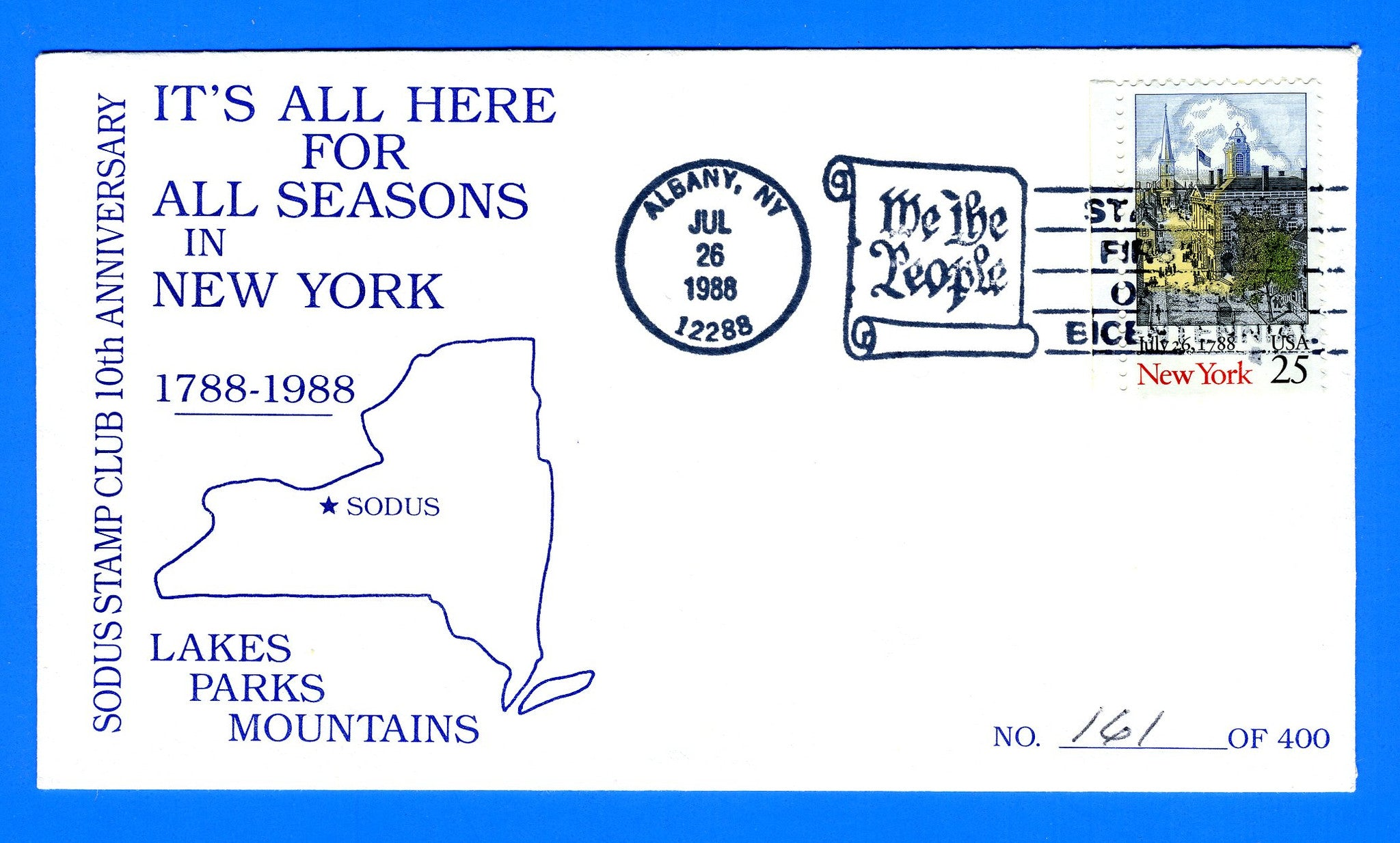 Scott 2346 New York Statehood First Day Cover by Sodus Stamp Club