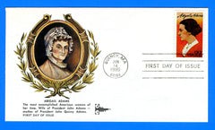 Abigail Adams First Day Cover by Gill Craft