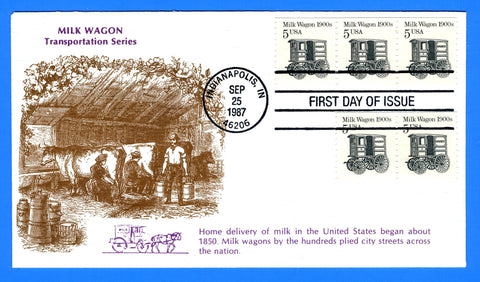 Scott 2253 Milk Wagon Coil First Day Cover by KMC Venture