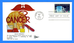 Health Research USA First Day Cover by Gill Craft