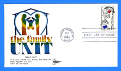 Family Unity First Day Cover by Gill Craft