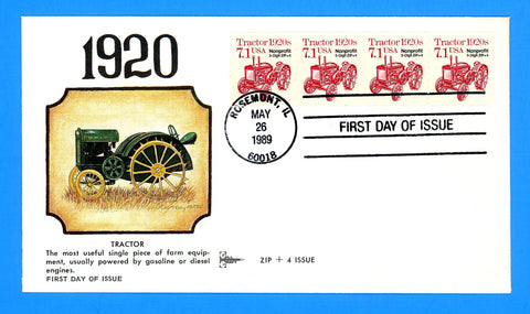 Tractor 1920s First Day Cover by Gill Craft