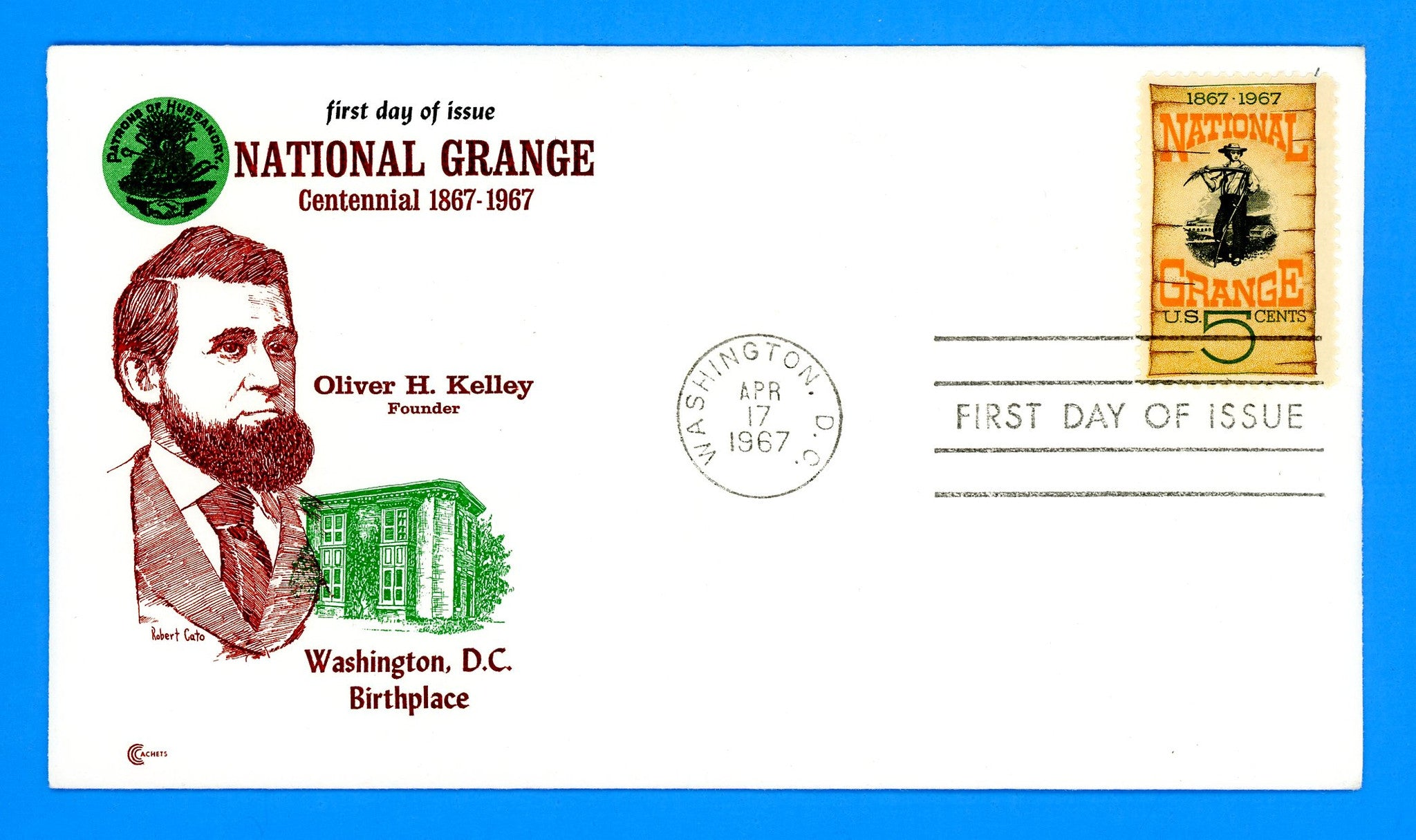 Scott 1323 National Grange First Day Cover by Cover Craft Cachets