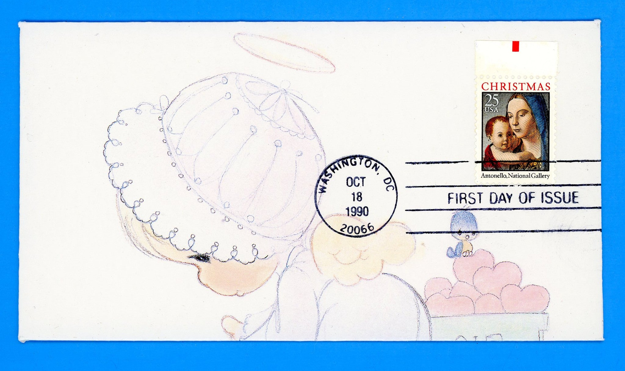 Scott 2514 Christmas Madonna & Child First Day Cover - Folded Envelope