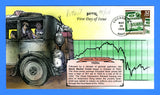 Scott 3184o Stock Market Crash CTC Hand Painted First Day Cover by Bevil 94/175