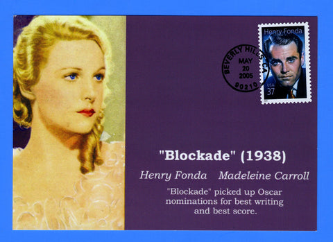 Scott 3911 37c Henry Fonda First Day of Issue Photo Card by Great Southern Cover Co