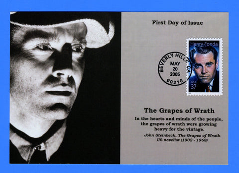 Scott 3911 37c Henry Fonda First Day of Issue Card by Great Southern Cover Co