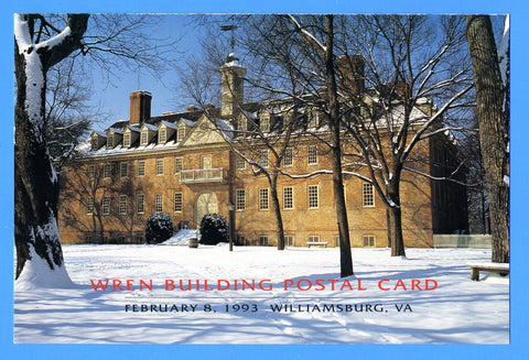 Scott UX167 Wren Building Postal Card First Day of Issue Program