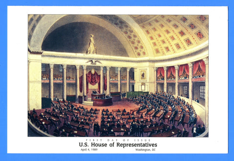 Scott 2412 U.S. House of Representatives First Day of Issue Program