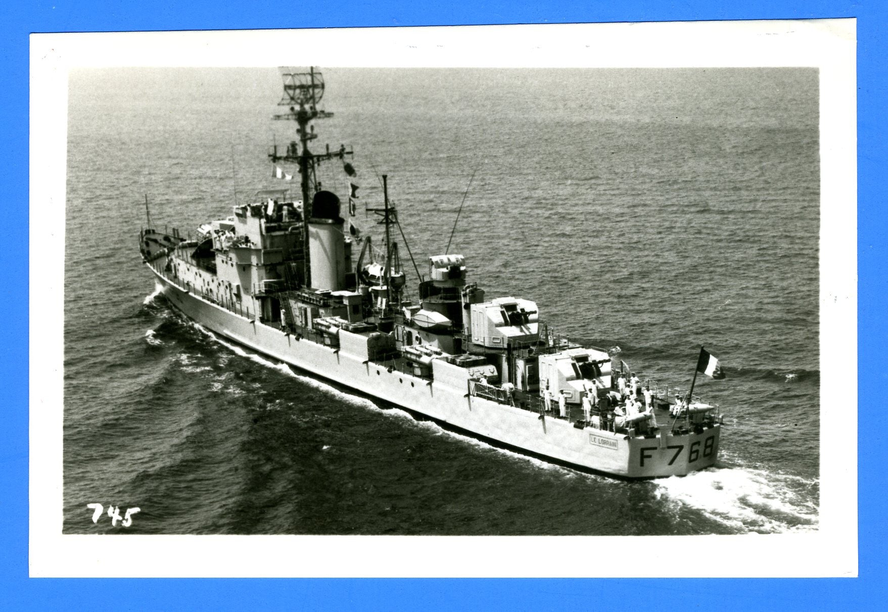 "French Navy Frigate Le Lorrain F768 [1957] - 3 1/2 x 5 1/2"" Photograph"