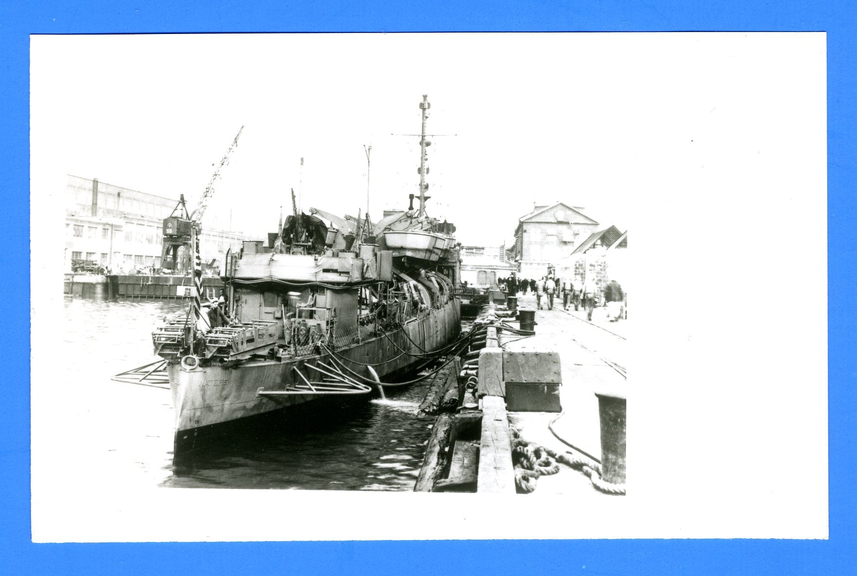 "USS Waters APD-8 (ex DD-115) - 3 1/2 x 5 1/2"" Photograph"