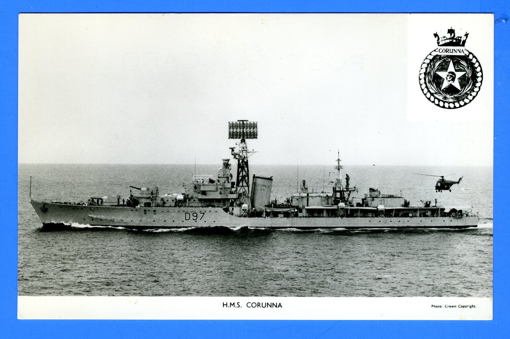 HMS Corunna D97 Unused Postcard by Gale & Polden