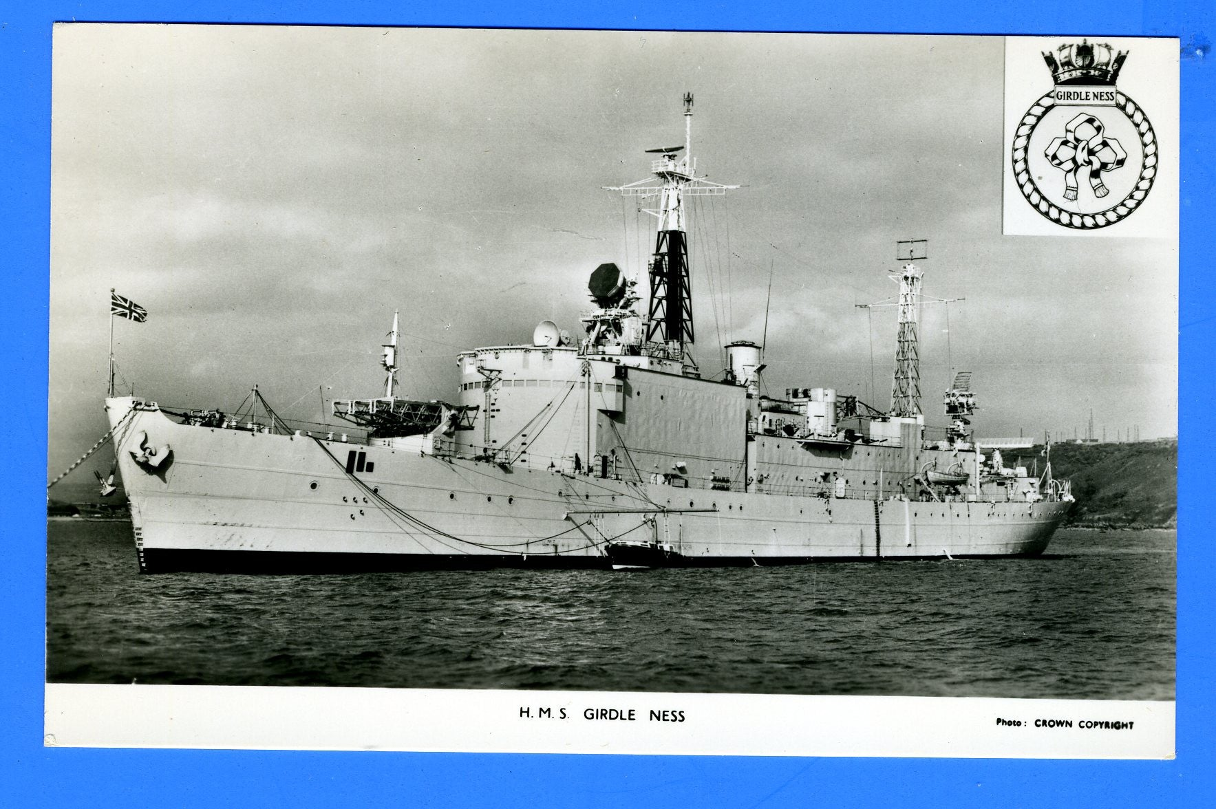 HMS Girdle Ness A387 Unused Postcard by Gale & Polden