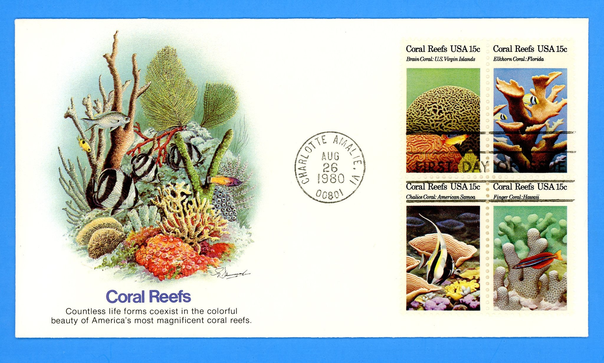 Scott 1830a Coral Reefs First Day Cover by Fleetwood