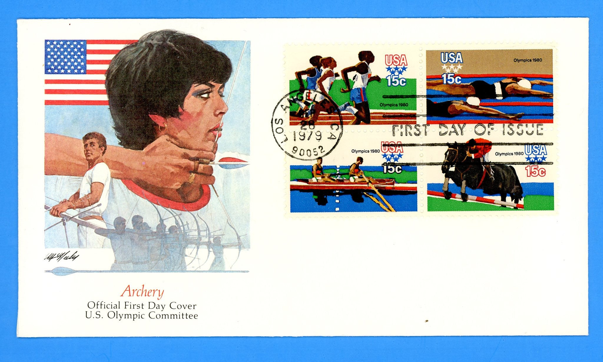 Scott 1794a Summer Olympics First Day Cover by Fleetwood
