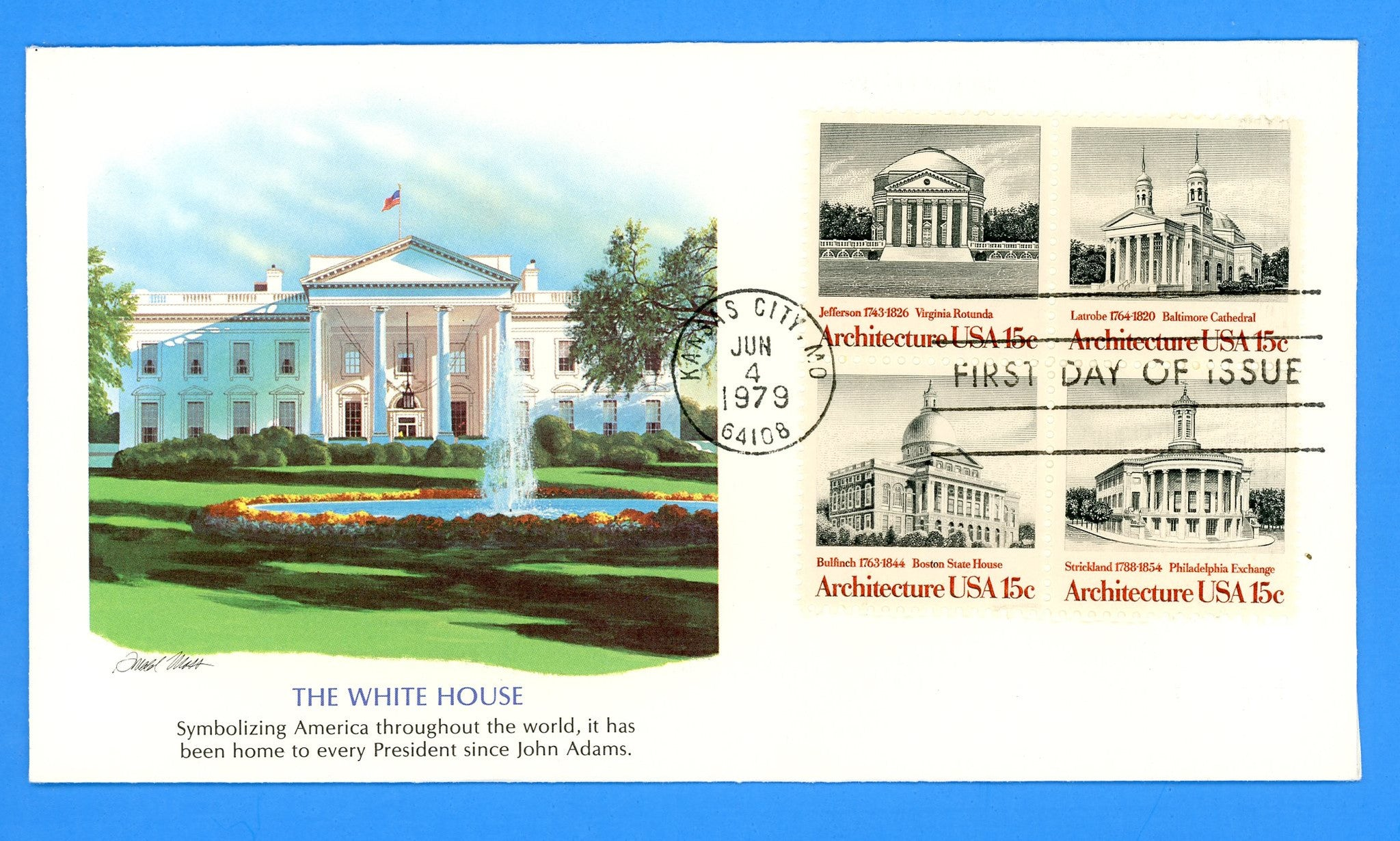 Scott 1782a American Architecture First Day Cover by Fleetwood