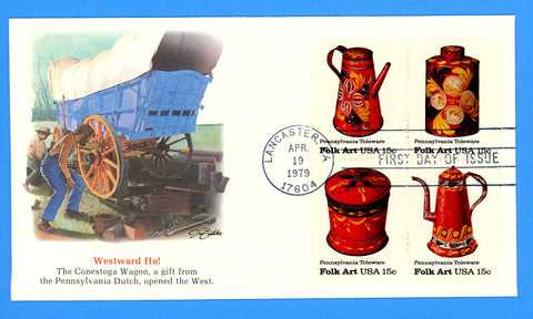 Scott 1775a Pennsylvania Toleware First Day Cover by Fleetwood
