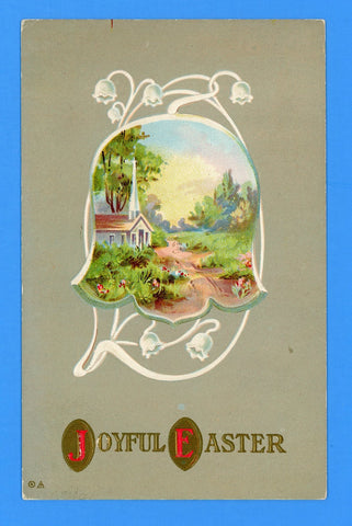 "Easter ""Joyful Easter"" Embossed Postcard"