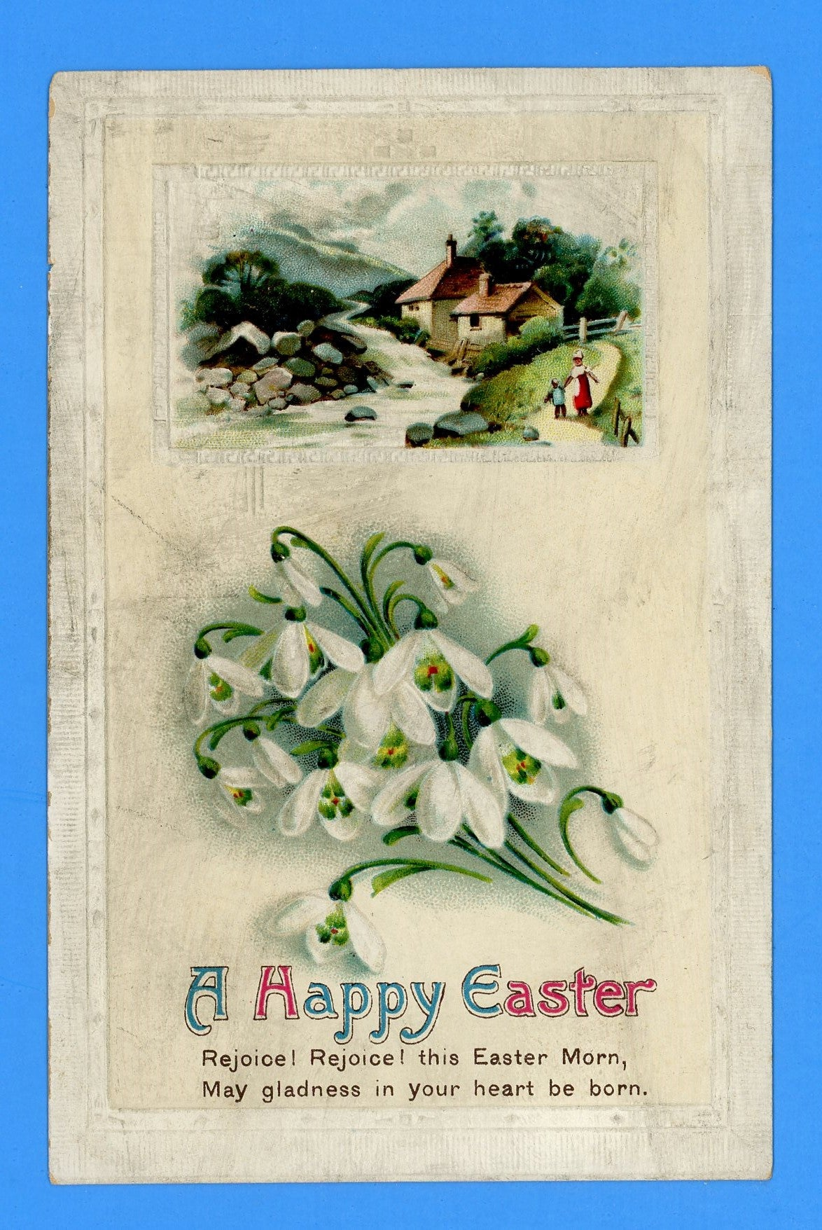 "Easter ""A Happy Easter"" Embossed Postcard"
