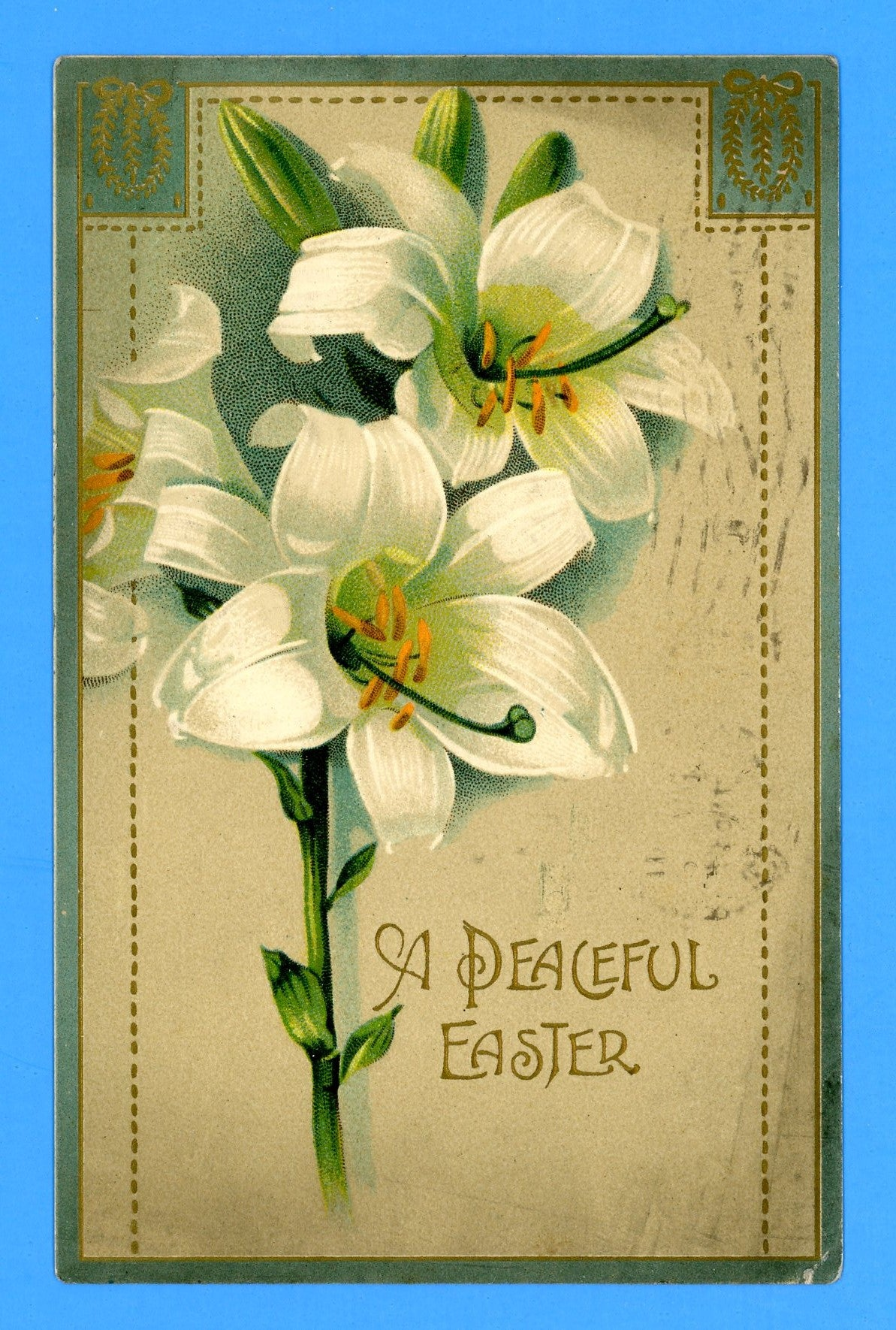 "Easter ""A Peaceful Easter"" Postcard"
