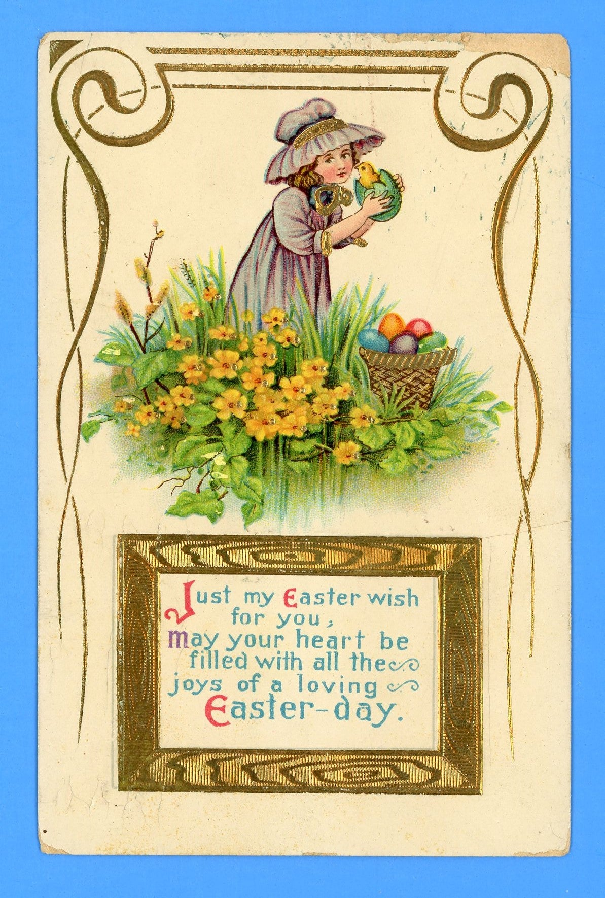 "Easter ""Just my Easter wish for you"" Postcard"