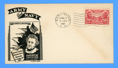 Scott #786 2c Army Series Generals Jackson & Scott First Day Cover by H. Dean Aubry