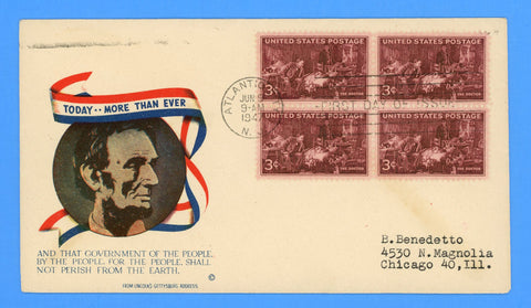 Scott #949 3c Doctors First Day Cover on Minkus Patriotic Cover