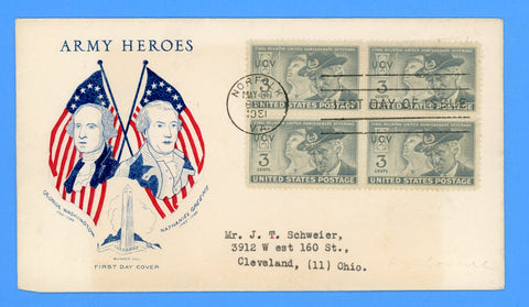 Scott #998 United Confederate Veterans First Day Cover on Grimsland Cachet for Army-Navy Series
