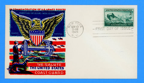 Scott #936 United States Coast Guard First Day Cover by Fluegel Covers