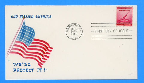 Scott #900 2c Defense Issue Army & Navy First Day Cover on Minkus Patriotic Cover