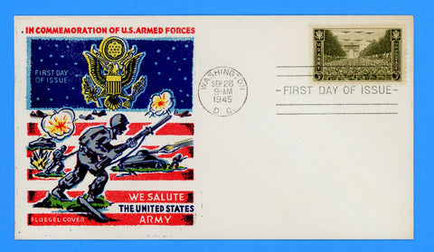 Scott #934 3c Army Issue First Day Cover by Fluegel Covers