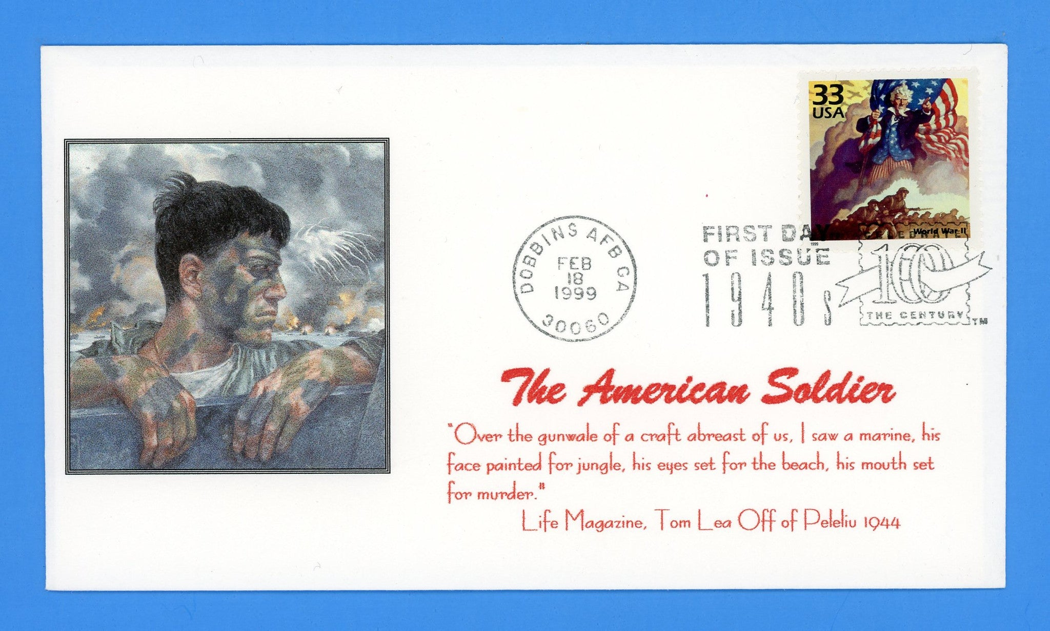 Scott 3186a World War II CTC First Day Cover by Great Southern Cover Co