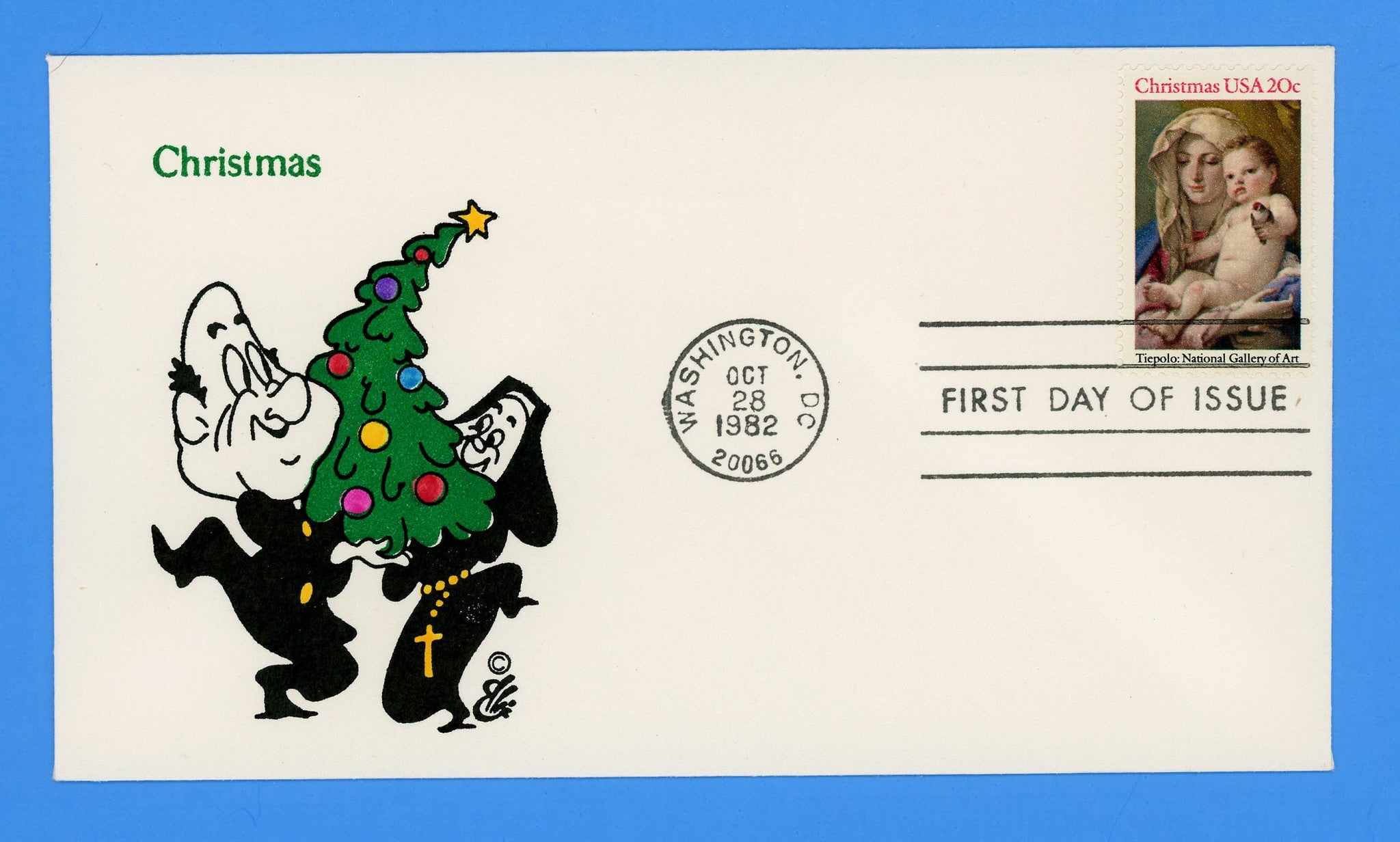 Christmas Madonna & Child 1982 First Day Cover by Ellis