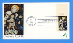 Christmas Madonna & Child 1980 First Day Cover by Andrews Cachet