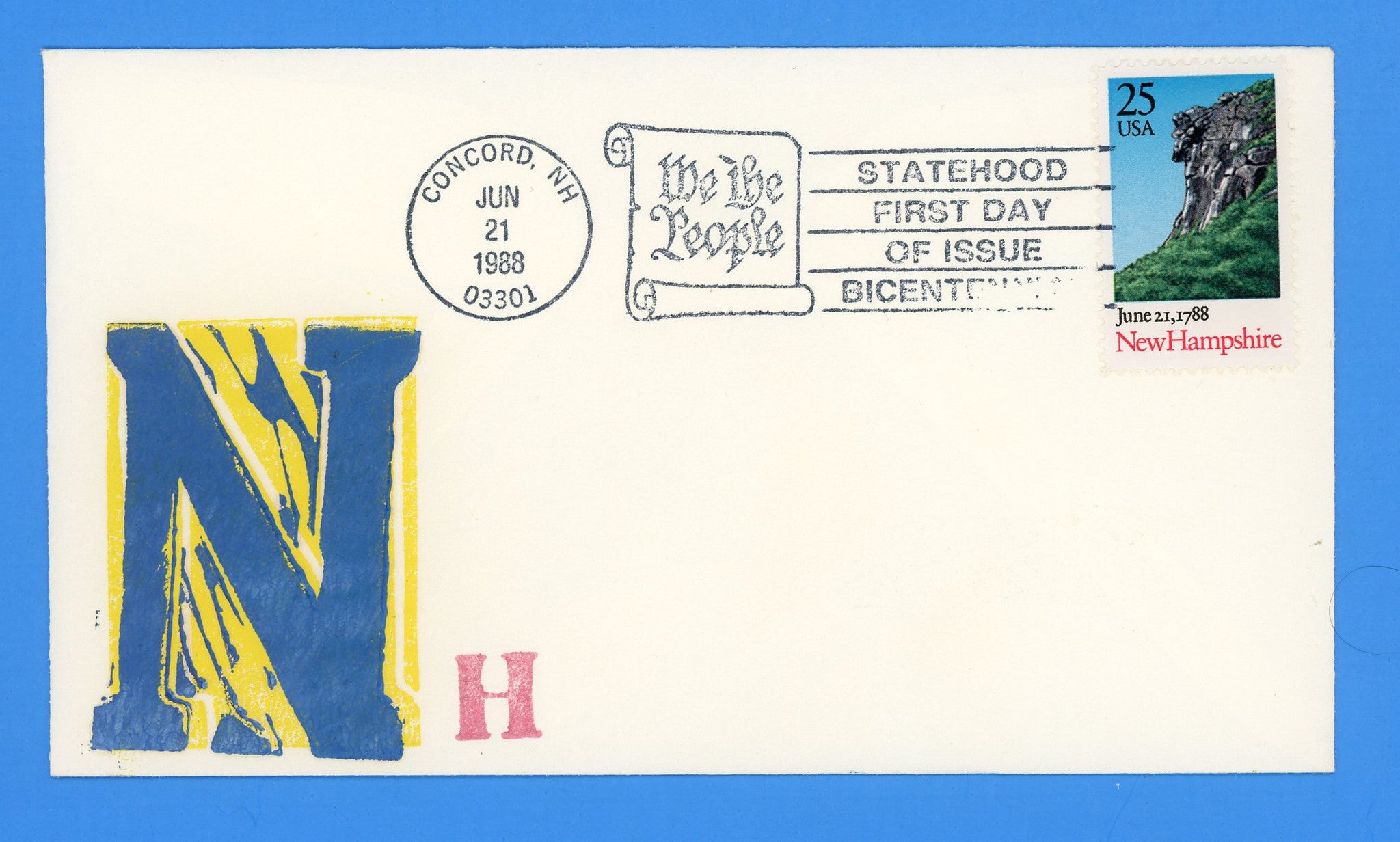 New Hampshire Statehood First Day Cover