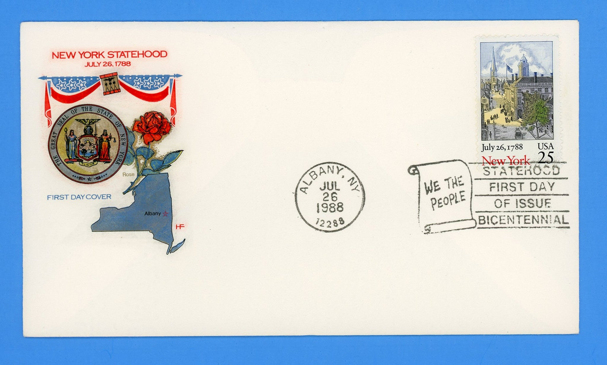 New York Statehood First Day Cover by House of Farnum