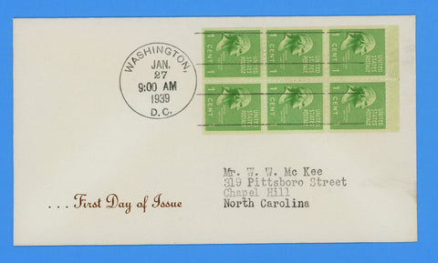 Scott #804b, 806b, 807a Presidential Booklet Panes Set 3 First Day Covers - Not Listed in Planty